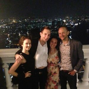 Sirroco Sky Bar. Bangkok, Thailand.  Luxury Holiday.  Drinks overlooking the skyline.