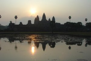 Sunrise at Angkor Wat.  Bucket List.  Backpacking.  Travelling