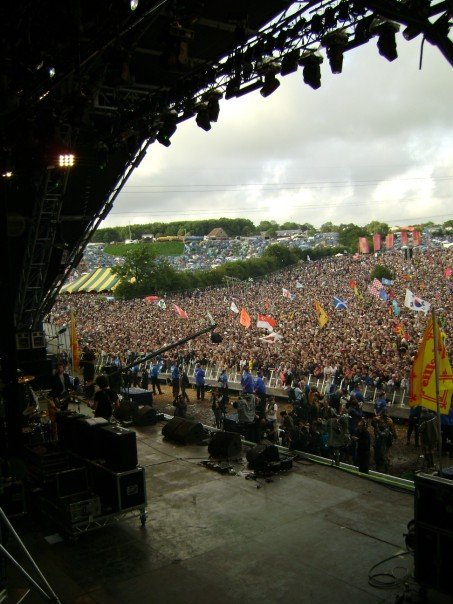Pyramid Stage - Backstage - Glastonbury 2007.