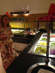 Salad buffet. Sea Breeze Restaurant, Le Meridien Dahab Resort