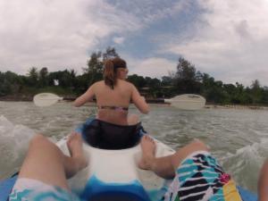 kayaking the waters of Koh Kood