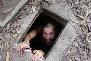 Getting out of the Chu Chi Tunnels, Saigon / HCMC Vietnam