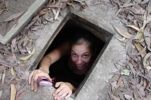 Getting out of the Chu Chi Tunnels, Saigon / HCMC Vietnam