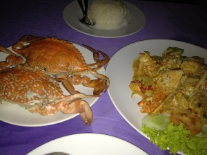 Crab dinner at Koh Kood Resort