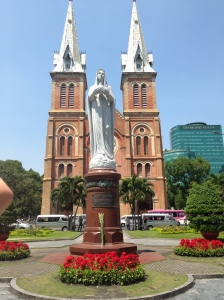 Notre Dame Cathedral and Square  Saigon / HCMC, Vietnam