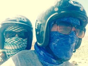 Getting a quad bike to the Blue Hole, Dahab, Egypt