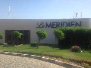 the entrance to Le Meridien Dahab Resort, Egypt