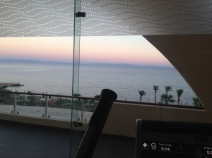 View from the gym at Le Meridien Dahab Resort Egypt