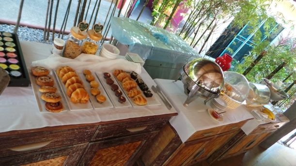 Breakfast  buffet at Pandora Lifestyle Hotel. Koh Samui, Thailand